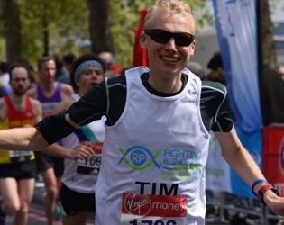 man running london marathon