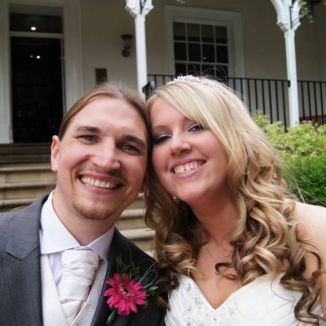 Mark Baxter and wife on wedding day