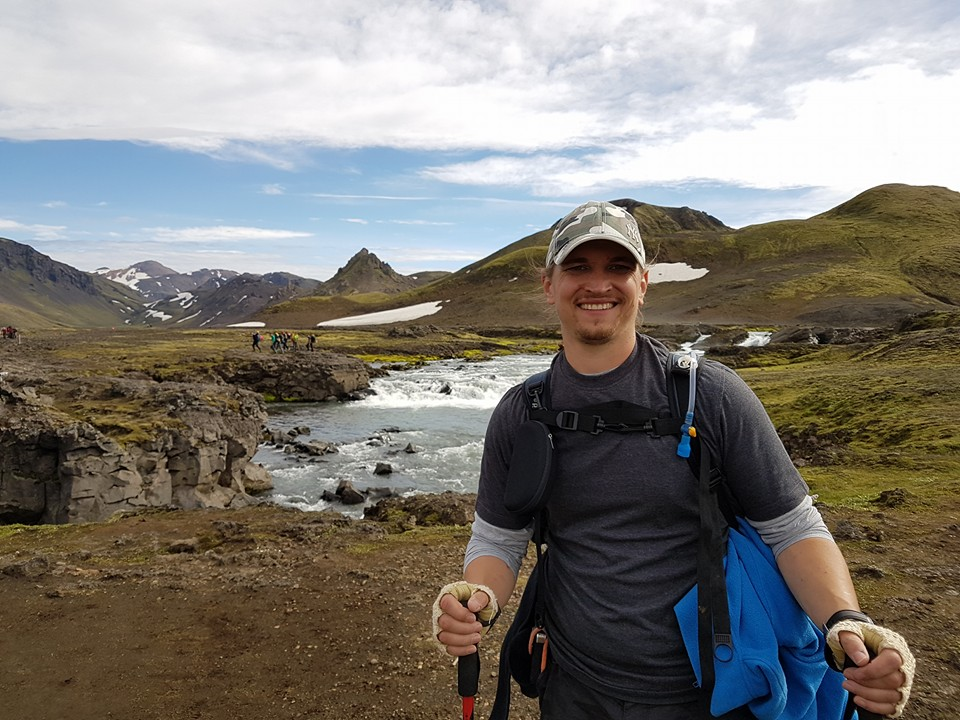 Mark Baxter trekking in mountains