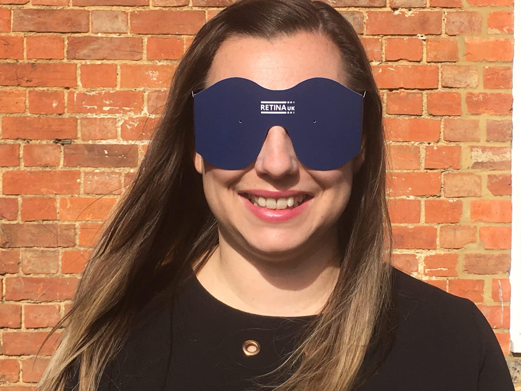 Woman wearing simspecs
