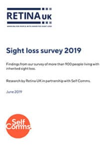 Retina UK sight loss survey report cover
