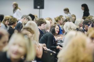 Delegates sitting in chairs at the Retina UK Professionals' Conference